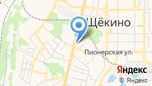 Управление пенсионного фонда РФ в г. Щёкино на карте