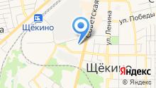 Щёкинский кондитерский комбинат, ЗАО на карте