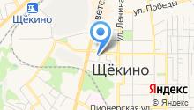Щёкинский хлебокомбинат, ЗАО на карте
