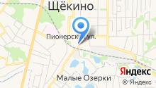 Мировые судьи Щёкинского района на карте