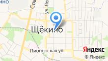 Щекинская компания технического обслуживания на карте