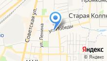 Магазин хлебобулочных изделий на ул. Победы на карте