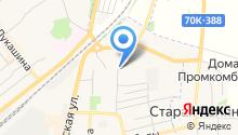 Автостоянка на Тульской на карте