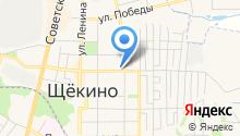 Магазин продуктов на ул. Льва Толстого на карте