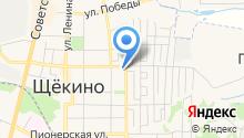 Отдел Военного комиссариата Тульской области по Щёкинскому району на карте