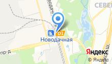 Новодачная на карте