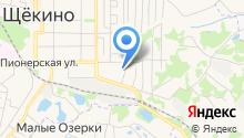 Щёкино-1 на карте