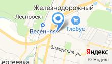 Автостоянка на Молодёжной на карте