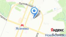 Ясногорская на карте