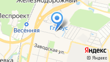 Автостоянка на Молодежной на карте