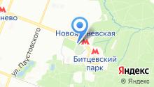 Ясневское кладбище на карте