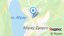Абрау на карте