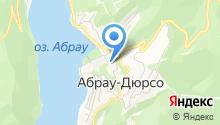 Абрау Дюрсо на карте