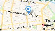 Егоза на карте