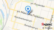 Магазин дисков на ул. Максима Горького на карте