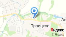 Церковь Троицы Живоначальной в Троицком на карте