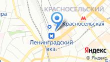 Ярославский вокзал на карте