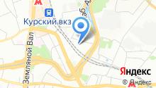 Яуза на карте