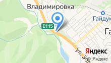 Сеть отелей на карте