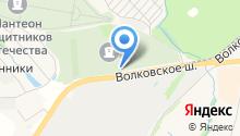 Волковское кладбище на карте