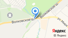 Автомойка на Волковском шоссе на карте