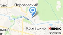 Территориальное управление Пироговский на карте