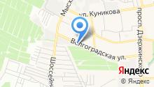 Шиномонтаж на Волгоградской на карте