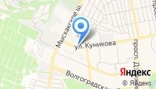 Автомойка на Куникова на карте