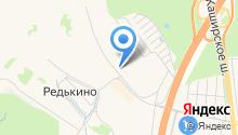 Большое Домодедово на карте