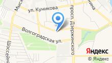 Архыз-Новороссийск на карте