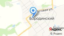 Администрация муниципального образования пос. Бородинский на карте