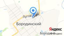 Бородинская городская библиотека, МУ на карте