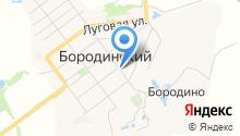 Бородинский на карте