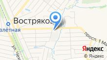 Востряковская баня на карте