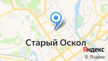 Военный комиссариат г. Старый Оскол на карте