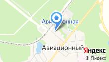 Отдел полиции по обслуживанию микрорайона Авиационный на карте