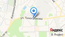 Магазин по продаже фруктов и овощей на ул. Тихонравова на карте