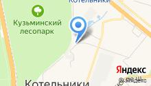 Белая Дача на карте