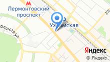 Ателье на Октябрьском проспекте на карте