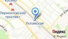 Ухтомская на карте