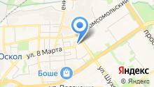 Автомастерская на ул. Ольминского на карте