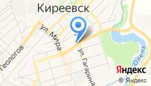Автостоянка на ул. Горняков на карте