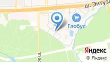 Автостоянка на Первомайской на карте