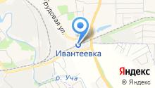 Ивантеевка на карте