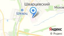 Шварцевская поликлиника на карте