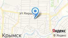 Управление социальной защиты населения в г. Крымске на карте