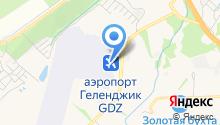 Международный аэропорт Геленджик на карте