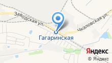 Гагаринская на карте
