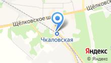 Чкаловская на карте