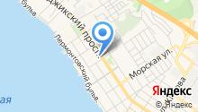 Шиномонтажная мастерская на ул. Луначарского на карте